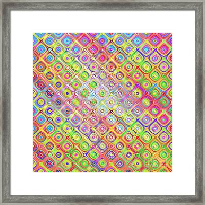 Colorful Sketch Blocks Pattern Framed Print by Wino Evertz