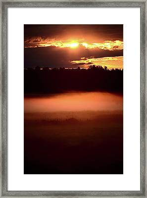 Colorful Skies Nearing Sunset Framed Print