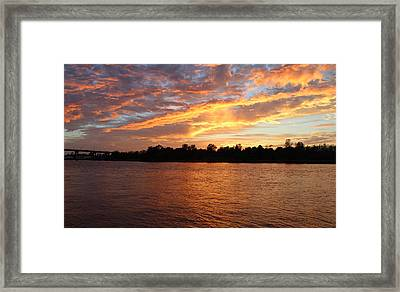 Framed Print featuring the photograph Colorful Sky At Sunset by Cynthia Guinn