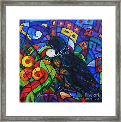 Colorful Song Of Tui Framed Print