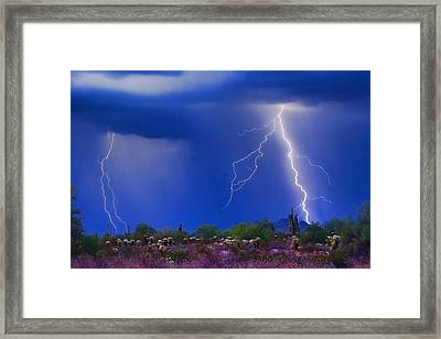 Colorful Sonoran Desert Storm Framed Print by James BO  Insogna