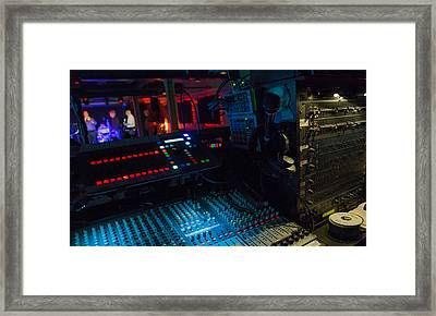 Colorful Sound Booth Framed Print