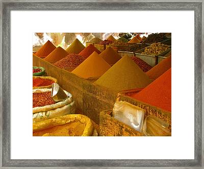 Colorful Spices On Sale Framed Print by Bashir Osman's Photography