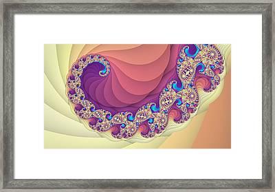 Colorful Spiral Fractal Art Framed Print by Marina Likholat