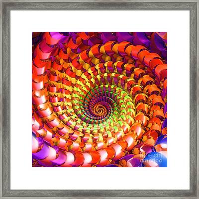 Colorful Spiral Framed Print