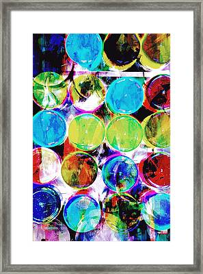 Colorful Spotty Abstract Framed Print by Tom Gowanlock