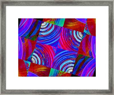 Colorful Squares Framed Print
