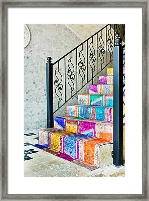 Colorful Stairs Framed Print by Tom Gowanlock