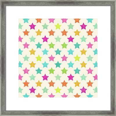 Colorful Star  Framed Print