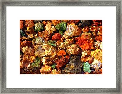 Colorful Stones Abstract Framed Print