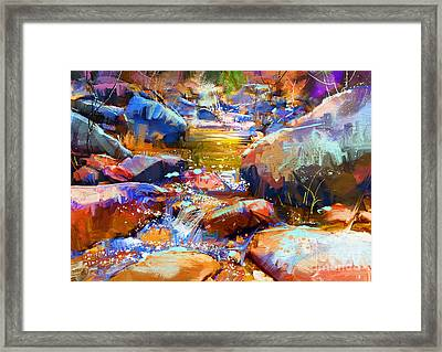 Colorful Stones Framed Print