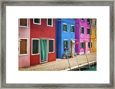 Colorful Street Framed Print by Inge Johnsson