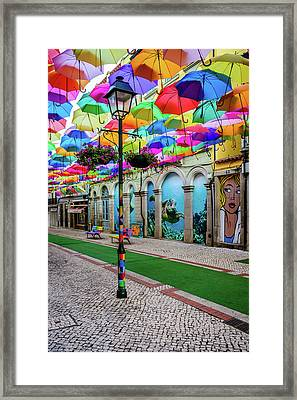 Colorful Street Framed Print