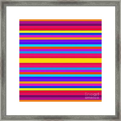 Colorful Stripes 2 Framed Print