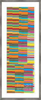 Colorful Stripes Framed Print by Ramneek Narang