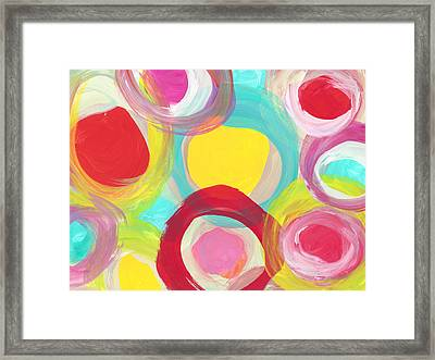 Colorful Sun Circles Framed Print