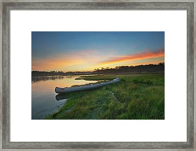 Colorful Sunrise - Assateague Island - Maryland Framed Print by Brendan Reals