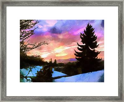 Colorful Sunset Framed Print