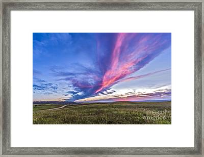 Colorful Sunset At The Reesor Ranch Framed Print by Alan Dyer