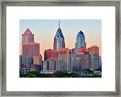 Colorful Sunset In Philadelphia Framed Print