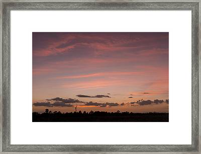 Colorful Sunset Over The Wetlands Framed Print