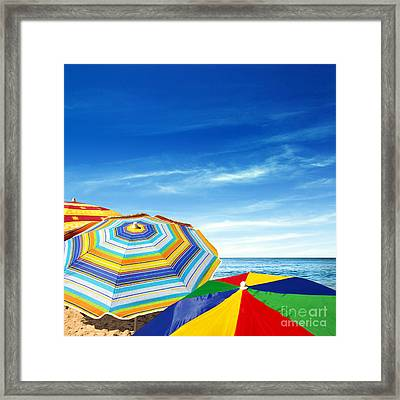 Colorful Sunshades Framed Print