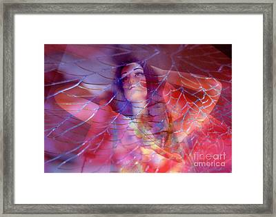 colorful surreal woman mannequin photography - Desdemona Framed Print