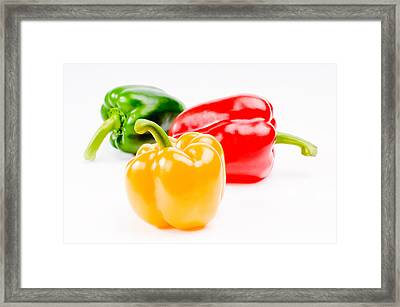 Colorful Sweet Peppers Framed Print by Setsiri Silapasuwanchai