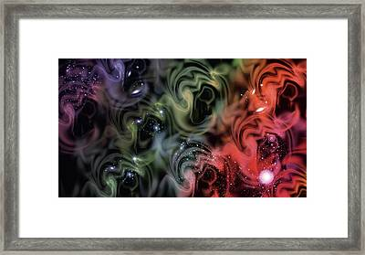 Colorful Swirls Framed Print