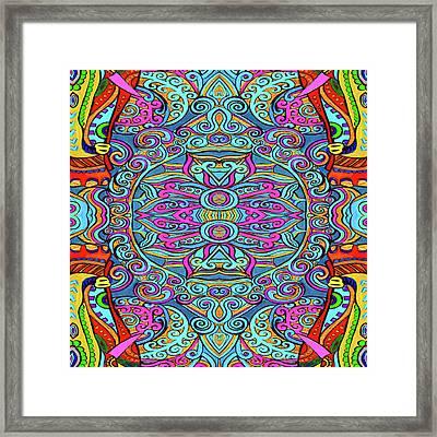 Colorful Swirly Design Framed Print