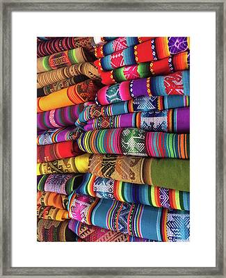 Colorful Tablecloths Framed Print