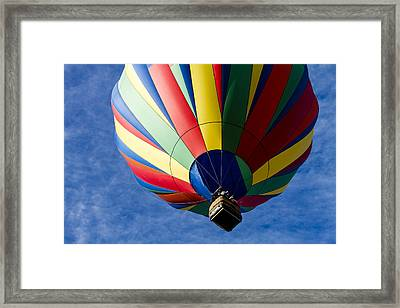 Colorful Take Off Framed Print by Teri Virbickis