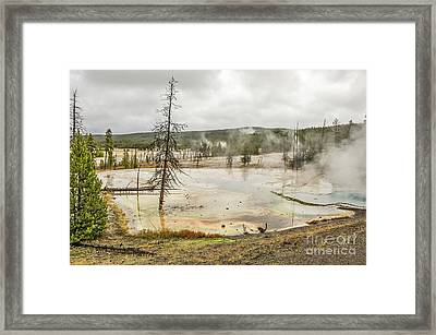 Framed Print featuring the photograph Colorful Thermal Pool by Sue Smith