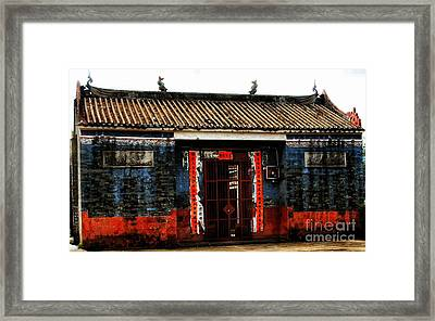 Colorful Times Temple Hall Framed Print by Kathy Daxon