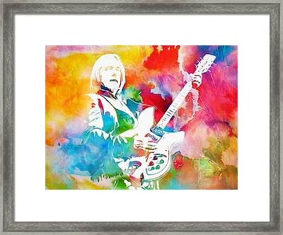 Colorful Tom Petty Framed Print