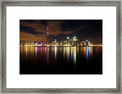 Colorful Toronto Framed Print by Matt  Trimble