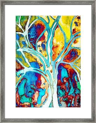 Colorful Tree Art By Priya Ghose  Framed Print