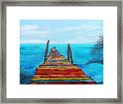 Colorful Tropical Pier Framed Print