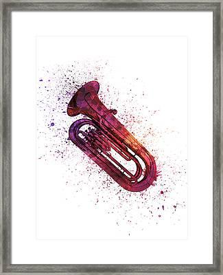 Colorful Tuba 04 Framed Print