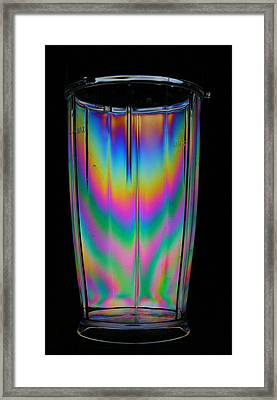 Colorful Tumbler Framed Print by Donald Tusa