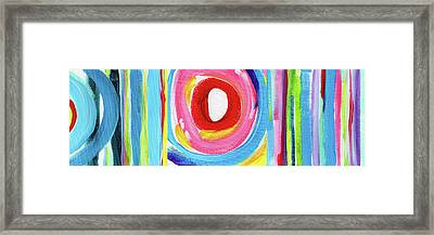 Colorful Uprising 6- Art By Linda Woods Framed Print by Linda Woods