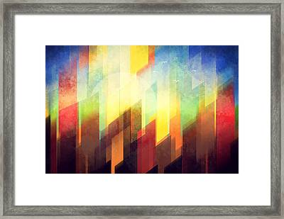 Colorful Urban Design Framed Print