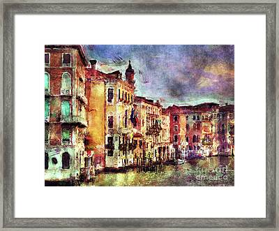 Colorful Venice Canal Framed Print