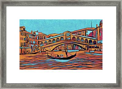 Colorful Venice Framed Print