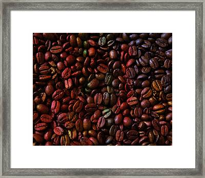 Colorful Vibrant Coffee Beans Framed Print