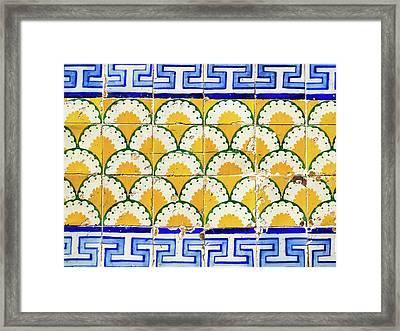 Colorful Vintage Portuguese Tiles Framed Print
