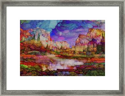 Colorful Vista Framed Print