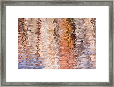 Colorful Water Reflections Abstract Framed Print by Jenny Rainbow