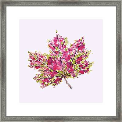 Colorful Watercolor Autumn Leaf Framed Print