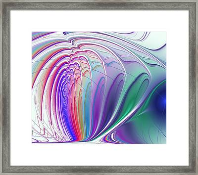 Colorful Waves Framed Print by Anastasiya Malakhova